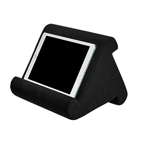 ConPush Kissenständer, Buchablage, Tablet-Sofa, Laptop-Kissenhalter, Mini-Tablet-Computer-Tablet-Halter, E-Reader, Smartphones (Schwarz)