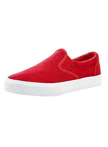 oodji Ultra Damen Einfarbige Stoff-Slipper, Rot, 38 EU / 5 UK