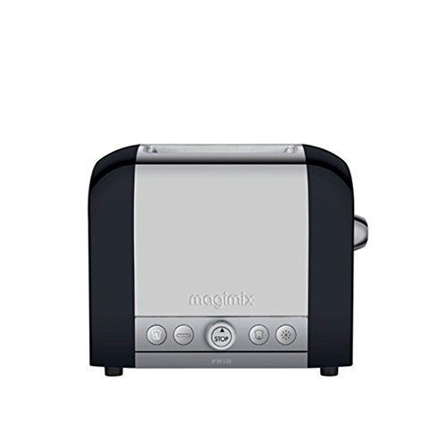 Magimix 2 11505 broodrooster, roestvrij staal, glas, zilver/zwart