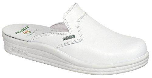 Panter - Calzado seguridad linea comoda profesional modelo zueco 451 caballero, talla 41, color blanco