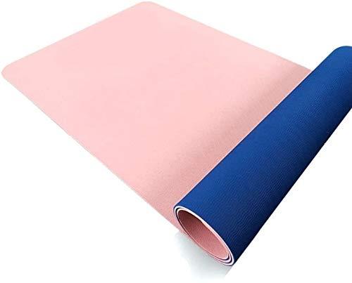 GDFEH Esterilla Yoga Mats de Yoga Eco Friendly TPE Pilates Mat Yoga Mats para Mujer Transportable Home Gym Mat para Hombres, Mujer y Niños para Yoga, Pilates y Gimnasia Yoga Mat (Color : Pink)
