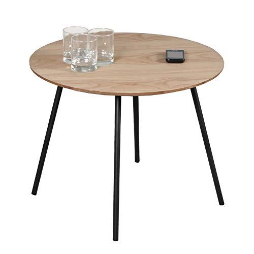 Weber Industries Lyra Table Basse, Chêne, 55 cm de diamètre