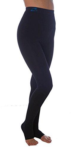 CzSalus - Lipedema de punto plano, linfedema, POTS soporte leggins de alta compresión (K2=25-30 mmHg), 3XL, Negro