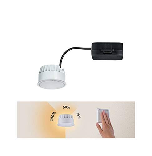 Paulmann 936.90 LED-Modul Coin für Einbauleuchten satiniert 6,5W, 1er-Set, 3-Stufen-dimmbar, Warmweiß