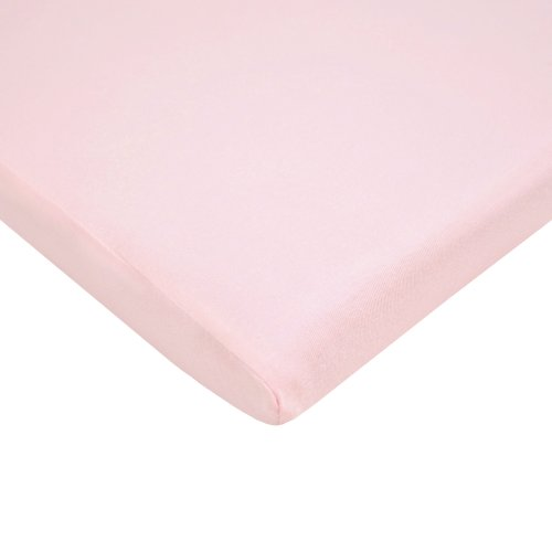 TL Care Supreme 100% Natural Cotton Jersey Knit Fitted Bassinet Sheet, Pink, Soft Breathable, for Girls