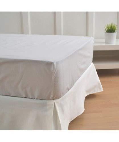 10XDIEZ Cubre canapé Blanco Roto | (Cama 105 cm - Blanco)