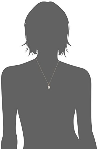 Sterling Silver Swarovski Crystal Clear Teardrop Pendant Necklace, 18