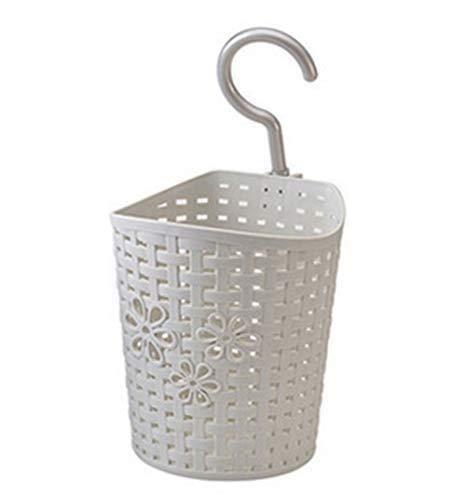 Depory 1K Dusch-Hängekorb, Kunststoff, mit Haken zum Aufhängen, Schlafzimmer Küche Aufbewahrungskorb