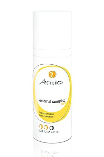 AESTHETICO external complex - Anti-Aging-Emulsion für reife Haut, pflegt mit Vitaminkomplex und bietet kompletten Oxidationsschutz, 50 ml