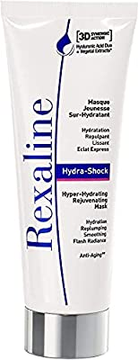 Rexaline - Hydra-Shock - Hyper-Hydrating Rejuvenating Mask - Moisturizing/Hydrating face mask - Anti wrinkle, anti aging and plumping face mask with Hyaluronic Acid - Cruelty free -75ml by Rexaline
