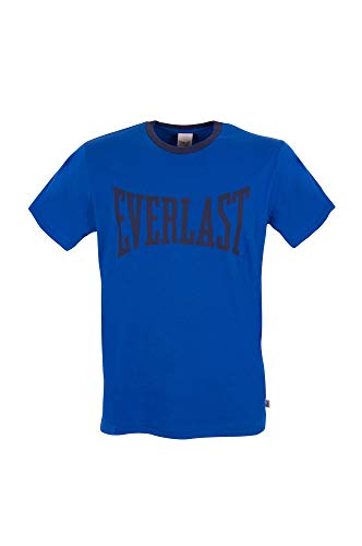 Everlast Juego de 1 a 5 unidades de camiseta de algodón para hombre, cuello redondo, manga corta, camiseta deportiva funcional 1 x Royal Azul L