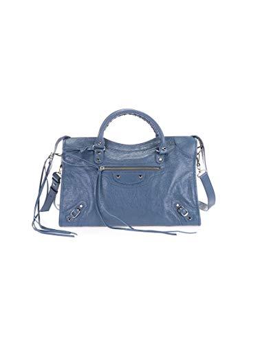 Luxury Fashion | Balenciaga Dames 505550D94JN4230 Blauw Leer Handtassen | Lente-zomer 20