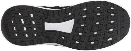 adidas Unisex-Kid's Duramo 9 Running Shoe, Black/White/Black, 5 5