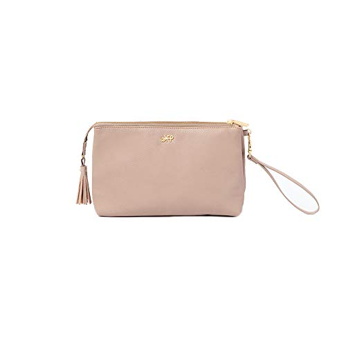 Freshly Picked - Classic Zip Pouch - Diaper Bag Accessory - Vegan Leather Clutch Wallet - Fig Pink