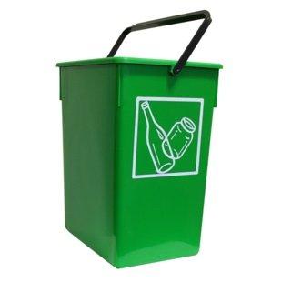 Cubo basura Reciclar 20X28X34 C/Asa verde 15l.