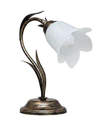 VALFB23132 NO Illuminazione per interni Lampada da Tavolo comodino in ferro battuto prodotto in Italia da Valastro Lighting Made in Italy