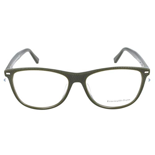 Ermenegildo Zegna Brillengestelle EZ5055-F Monturas de gafas, Verde (Grün), 54.0 para Hombre