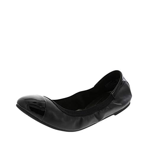 dexflex Comfort Women's Black Claire Scrunch Flat 5 M US