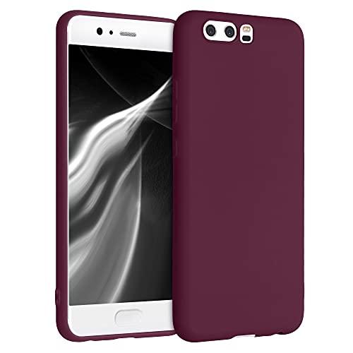 kwmobile Funda para Huawei P10 - Carcasa de TPU Silicona - Protector Trasero en Violeta Burdeos