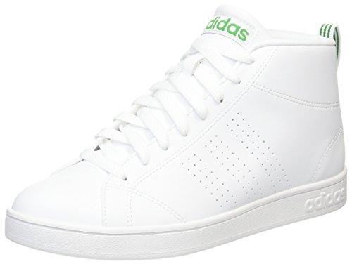 adidas Advantage Cl Mid, Zapatillas Altas para Hombre, Blanco (Ftwbla / Ftwbla / Verde), 44 EU