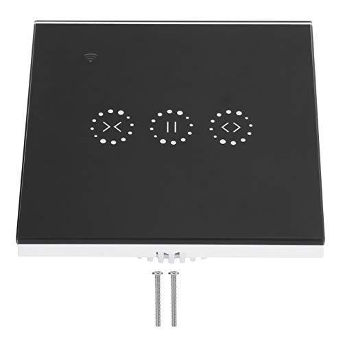 Interruptor táctil WiFi, Interruptor táctil AC 95-250V Interruptor táctil de Pared Inteligente y Duradero, Elegante para Puertas de Garaje, Puertas(Black Cover (2273003))