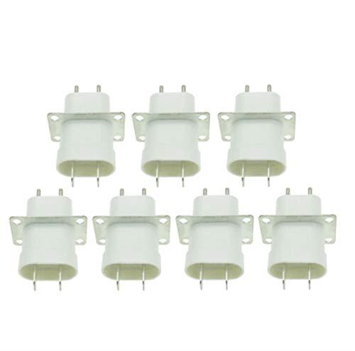 ZZSSHENG ZSHENG 7 unids Microondas electrónica Magnetron ABC 4 Filamento Pin Sockets Converter Home Microwave Horno Piezas de Repuesto