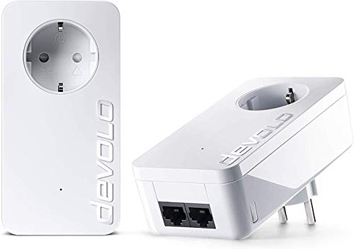 devolo dLAN 550 duo+ Starter Kit Powerline (500 Mbit/s Internet aus der Steckdose, 2x LAN Ports, 2x...