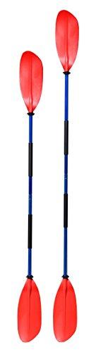 Navyline asymmetrisches Kajak Paddel 2-teilig, Farbe:rot, Länge:210cm
