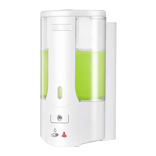 Weskjer Dispensador de jabón montado en la Pared, 400 ml Dispensador de jabón automático Dispensador de desinfectante sin Contacto, Dispensador de desinfectante de Manos Dispensador sin Contacto