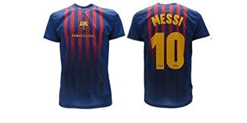 Camiseta Jersey Futbol Barcelona Lionel Messi 10 Replica Autorizado 2018-2019 Niños (2,4,6,8,10,12,14 año) Adultos (Small, Medium, Large, Xlarge) (Talla 6 Años)