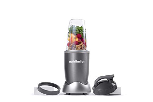 NutriBullet NBR-0601WM 600W Nutrient Extractor, 6pcs, Gray (Renewed)