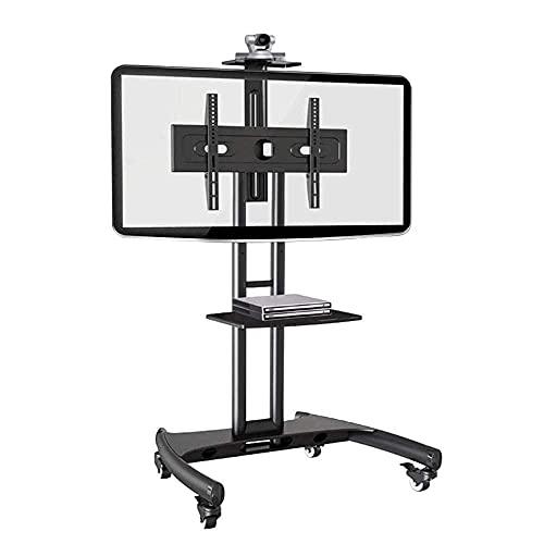 CCAN Soporte para TV, Carrito de TV móvil 32'-65' Soporte para TV de Plasma LCD LED de Panel Plano con Bandeja para cámara y Estante AV Interesting Life