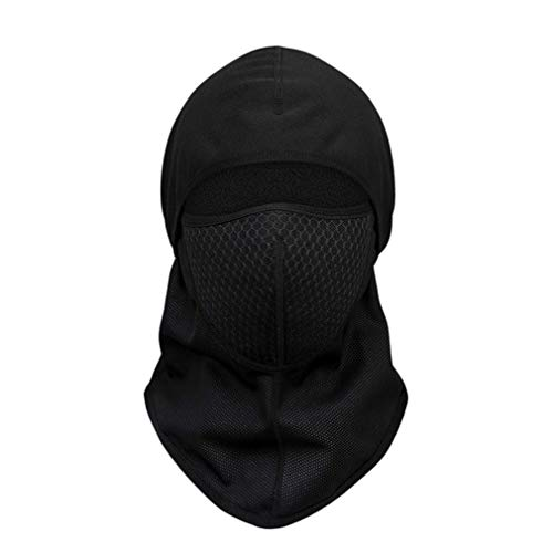Cómodo mantener caliente activo carbono Ciclismo máscara facial motocicleta escudo facial deporte ciclismo bicicleta montar máscara completa