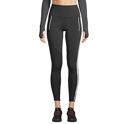 STRONG by Zumba Damen Women's High Waisted Shaping Athletic Performance Ankle Workout with Compression Leggings, Noir, XX-Large