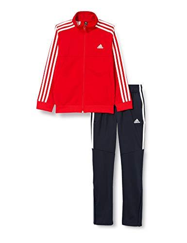 adidas Yb TS Tiro Survêtement, Scarle/White/White, 7-8A Mixte Enfant