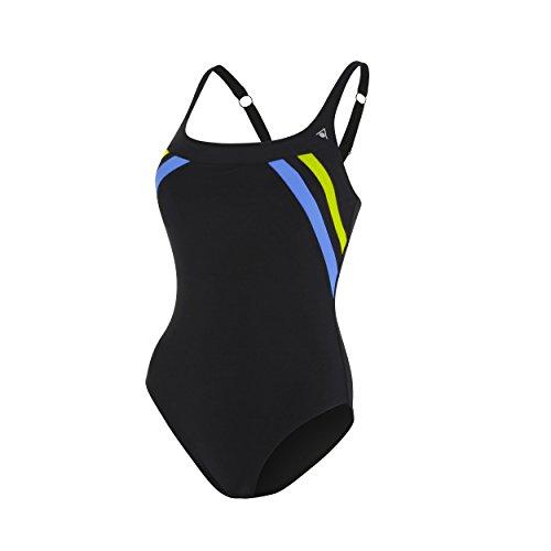 Aqua Sphere Siena Bañador de Competición, Mujer, Negro/Amarillo, 2XL
