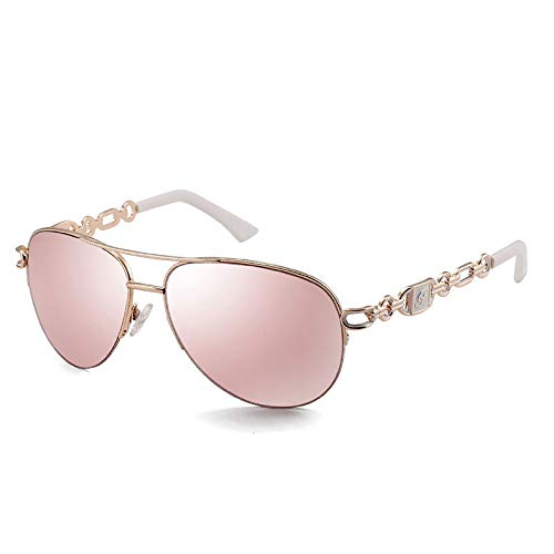 QFSLR Gafas De Sol De Aviador con Diseño De Montura Hueca: Gafas De Sol para Mujer con Protección UV400 Adecuadas para El Uso Diario Y Las Compras,E