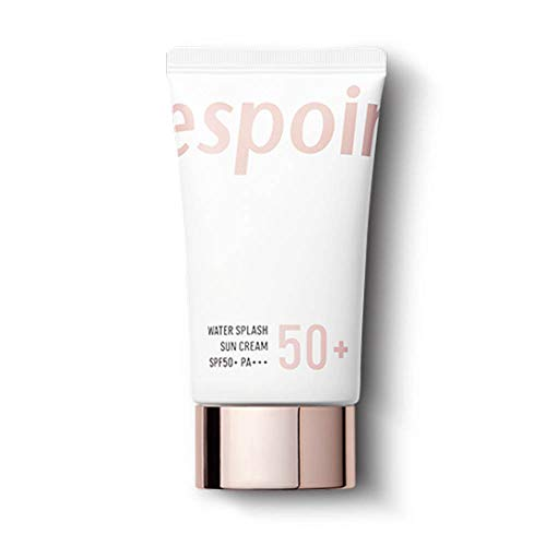 ESPOIR Water Splash Sun Cream 60ml SPF50+PA+++ | Water Droplet-Bursting Moisture Bomb Sun Cream For a Refreshing Feeling Up While Keeping the Moisture