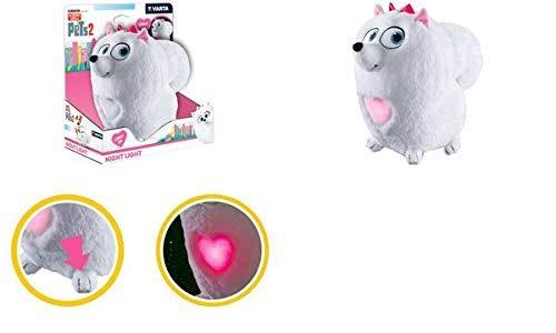 VARTA Pets Plüsch-Nachtlicht Gidget für Kinder Taschenlampe (Orientierungslicht, Stimmungslicht für Schlafzimmer mit An- und Ausschaltfunktion am linken vorderen Fuß)