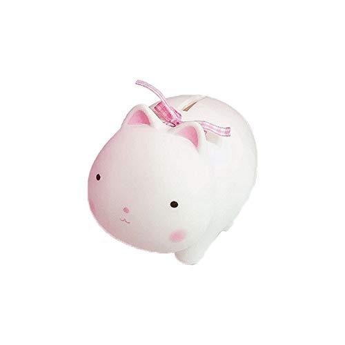 Fablcrew. 1 hucha de caza en forma de cerdo animales, de plástico, original para niños y niñas., plástico, gato, 11*7.5*7.5CM