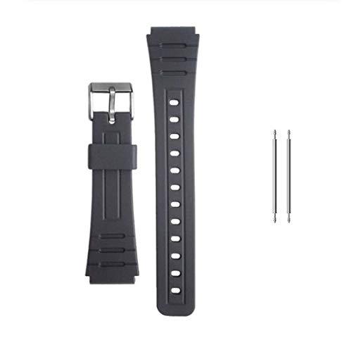 Intervic Correa de Repuesto Reloj Casio F-91W Negra Pulsera 18mm Plastico con...