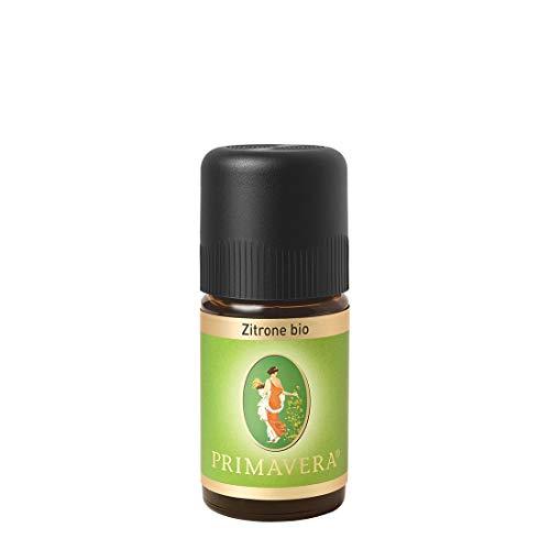 PRIMAVERA Ätherisches Öl Zitrone bio 5 ml - Aromaöl, Duftöl, Aromatherapie - erfrischend, konzentrationsfördernd, aufmunternd - vegan