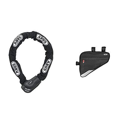 Abus Fahrradschloss 1060, Schwarz, 170 cm, 28625-4 & Fahrradtasche ST 2250, Black, 23.5 x 19.5 x 5 cm