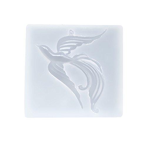 Magideal Phoenix molde de silicona con orificio resina joyería colgante encanto DIY Haciendo molde herramienta