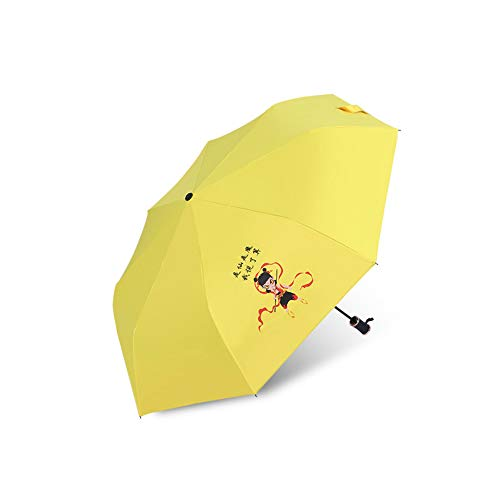 YYouRuiSmall Fresh Umbrella Ladies Sunny Rain Dual-Use Three-Fold Folding Umbrella Sun Protection UV