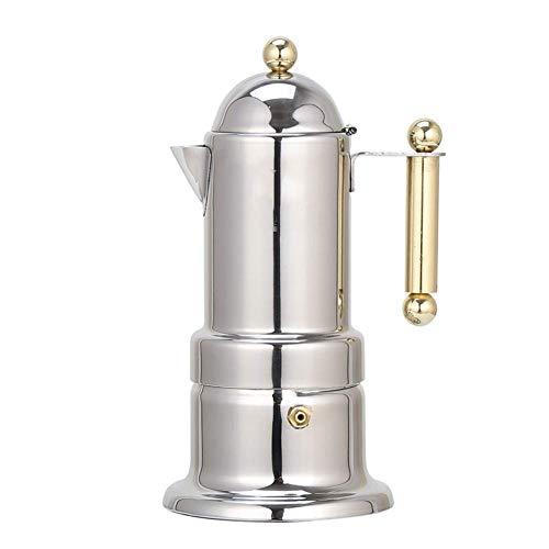Espresso Maker Moka Pot Mocha Coffee Pot RVS Koffiepot Italiaanse Geconcentreerd Mocha Koffiezetapparaat 4 Beker for Cappuccions en MokaCoffee Latte for volledige Bo coffee pot