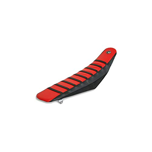 FLU Designs Pro Rib Seat Cover (Black/RED/Black) for 09-12 Honda CRF450R