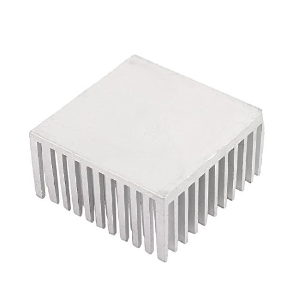 EbuyChX 40mm x 40mm x 20mm Aluminum Heatsink Heat Nagkakalat Pagpapalamig Fin Silver Tone
