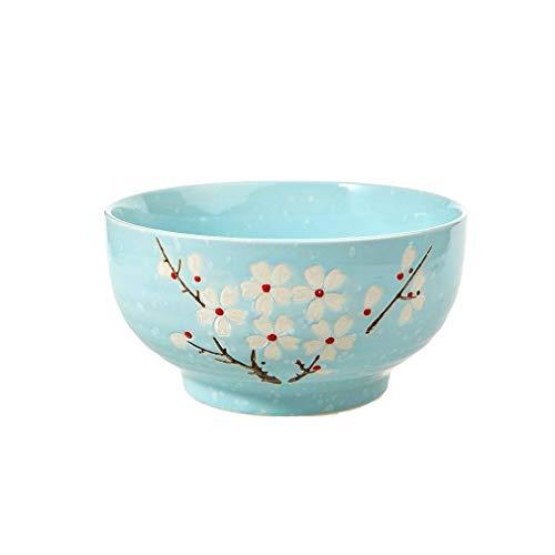 Lachineuse – Cuenco grande de ramo japonés – Color azul – Diseño de flor de cerezo