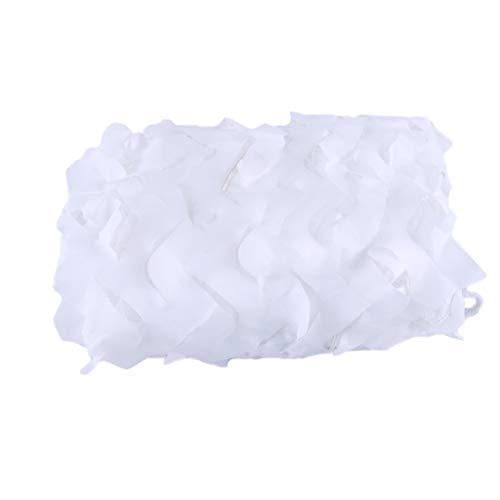 FKDENET 2x2m 6x6m 10x10m Tarnnetz Weiß, 150D Polyester Shade Net for Markise Auto Terrasse Pool Pergola, Hochzeit Dekoration (Size : 2x2m/6.6ftx6.6ft)